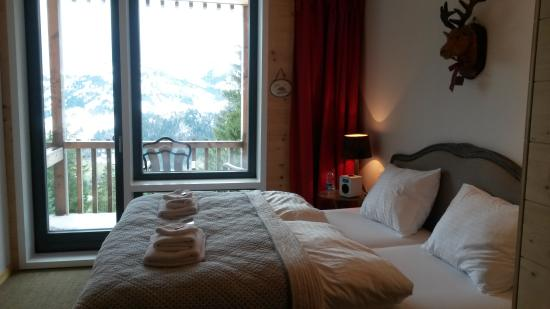 Rinderberg Swiss Alpine Lodge : Room with a view