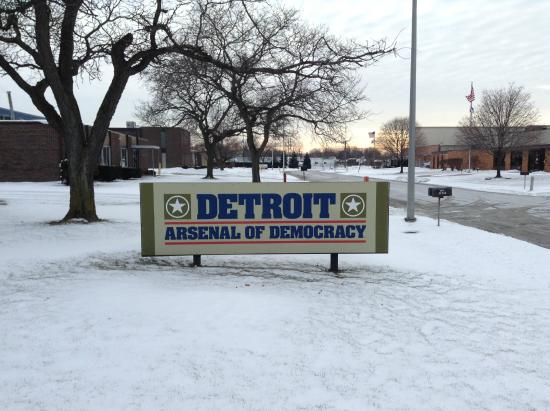Saint Clair Shores, MI: Arsenal of Democracy Sign