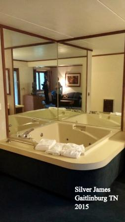 Sidney James Mountain Lodge: hot tub