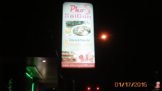 Pho Saigon Vietnamese Cuisine: street signage
