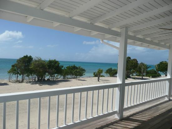 Barbuda Cottages : View from the porch of the one bedroom cottge