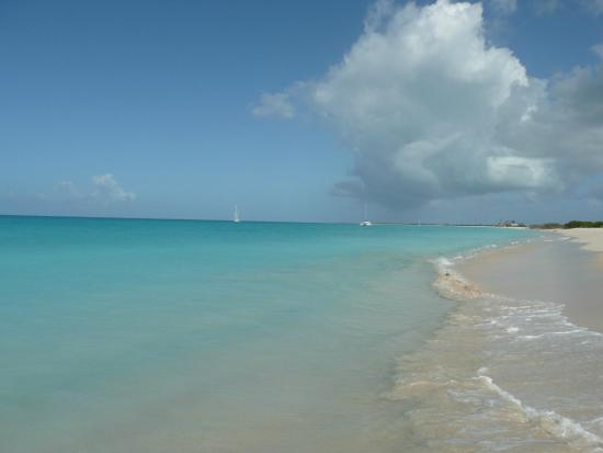 Codrington, Barbuda: view from our beach chairs