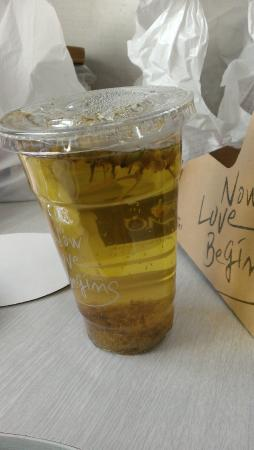 Caffe Ti-amo: don't order tea to-go here! they put it in a thin plastic cup that melts..