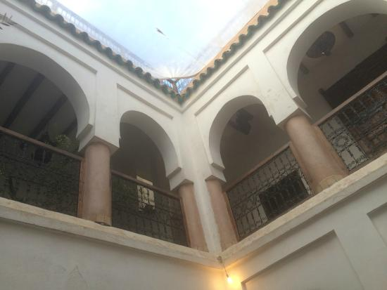 Riad Elixir: view from courtyard