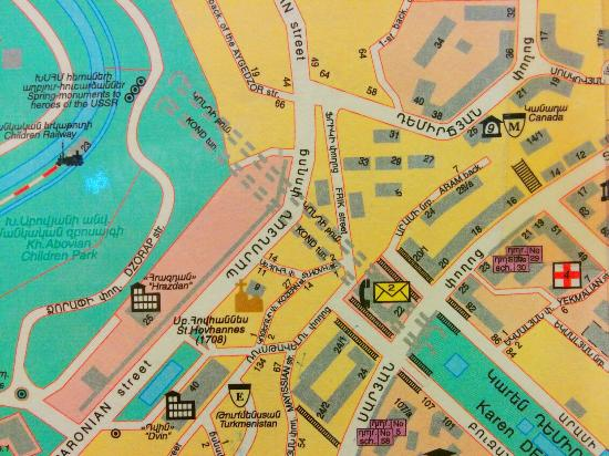 KOND PEDESTRIAN TUNNEL INDICATED ON YEREVAN CITY MAP Picture Of - yerevan map