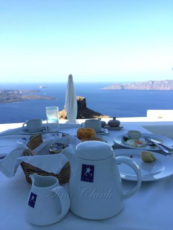 Breakfast with a view at Astra Suites is truly a match made in Heaven!