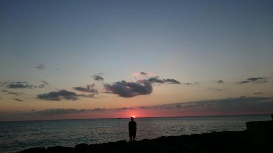 Kakaako Waterfront Park: pink sunset