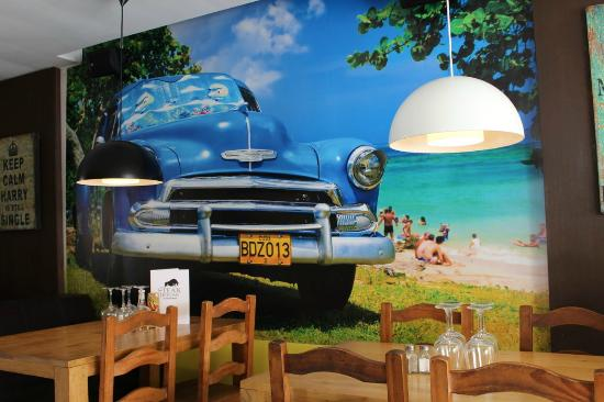 Cuban Car wall art - Picture of The Steak House at Burriana, Nerja ...
