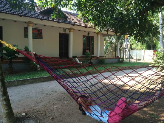 Riverside Heritage Homestay: view from the hammock