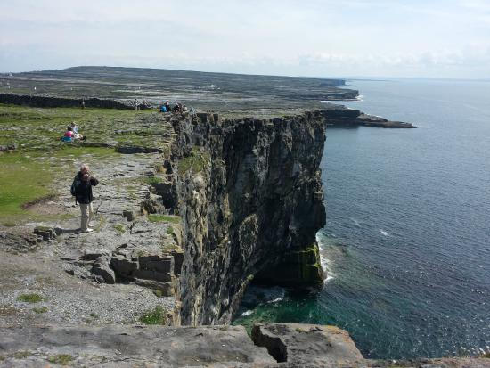 Aerial view of Dun Aengus fort on the Aran Islands Stock Photo ...