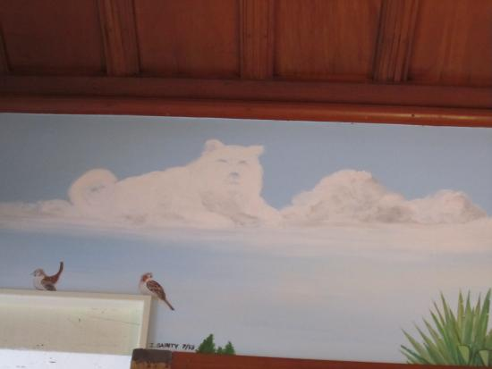 Robertson House: Mural in dinning room of Loki
