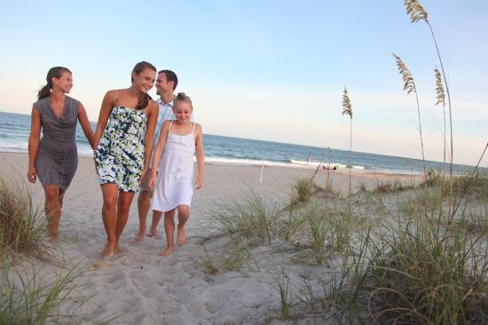 Family on Wrightsville Beach