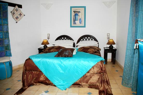RIAD AQUARELLE : chambre Turquoise