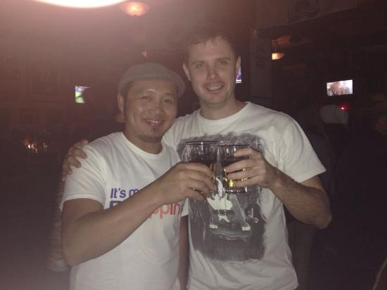Sanya dolphin sports bar & grill: W/ Chris, wayback Shanghai Days,..meet here at Dolphins Bar