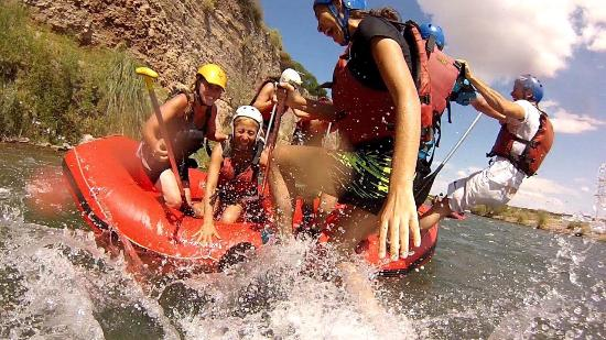 Province of Mendoza, Argentina: Taking a fall in the Mendoza River! Shot with my own GoPro camara. Our guide was great and keep
