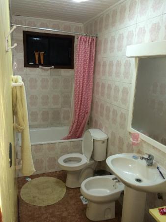 Hostal Emalafquen: Infelizmente, só tenho foto do banheiro.