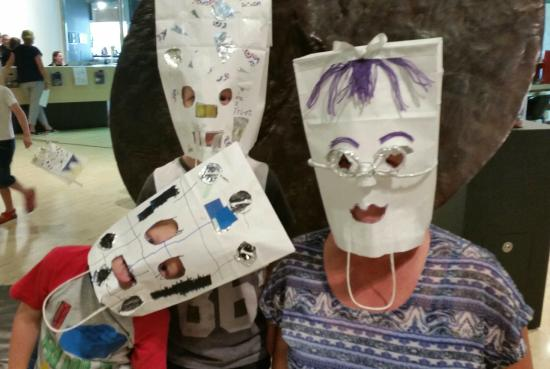 Art Gallery of Western Australia: Almost 2 hours after starting, our Masks are complete. Fun had.