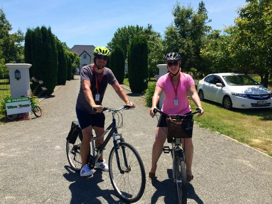 Hillsfield House Bed and Breakfast Marlborough : Wine tours by bikes! SO fun!