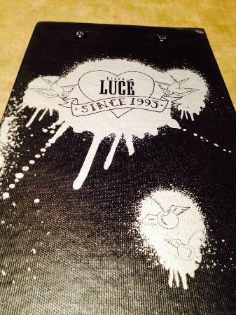 Pizza Luce: The menu.