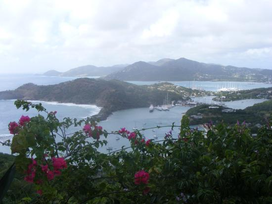 Luxury Safari Antigua: View from the lunch spot, over Nelson's Dockyard