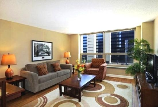 Corporate Suites Network at Presidential Towers: Example of living area