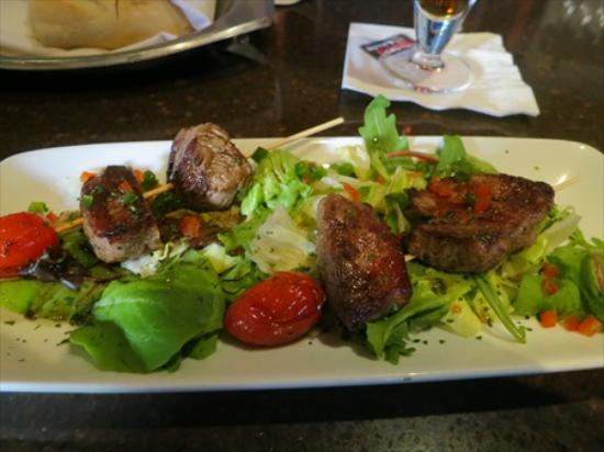 Ruth's Chris Steak House: The marinated meat is excellent at Happy Hour