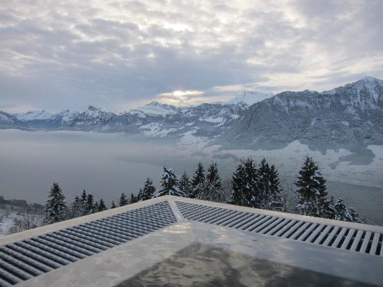 fantastic view on lake lucerne from outdoor pool picture of hotel villa honegg ennetbuergen. Black Bedroom Furniture Sets. Home Design Ideas