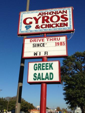 Athenian's Famous Gyros: Main Sign