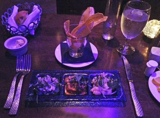 The Wave Kitchen and Bar: Ceviche, no flash, mood lighting