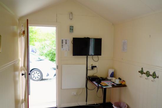Catlins Kiwi Holiday Park at McLean Falls : Intérieur de la cabine