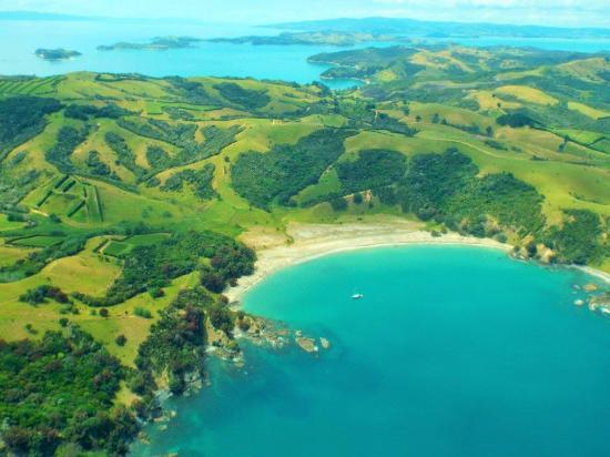 Isla Waiheke, Nueva Zelanda: Waiheke Island from the plane