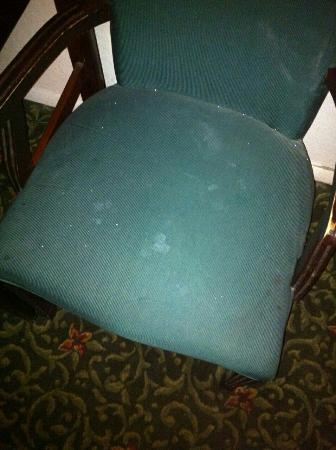 Days Inn Elk Grove Village/Chicago/O'Hare Airport West : Chair with stains they had in the room