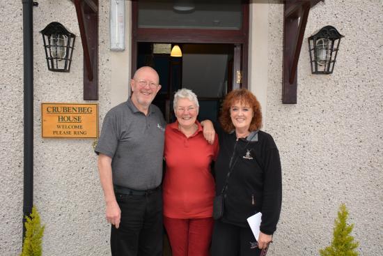 Crubenbeg House: With John and Irene as we were leaving.