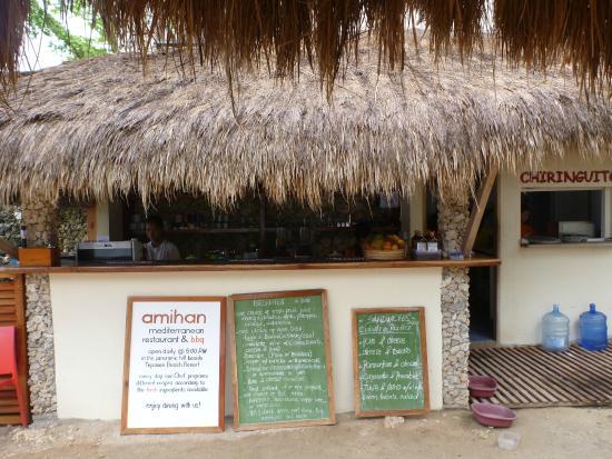 Chiringuito Beach Bar and Restaurant: Menu Board