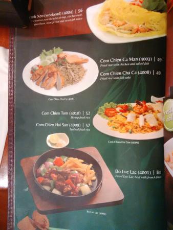 menu at MonViet Kemang Village