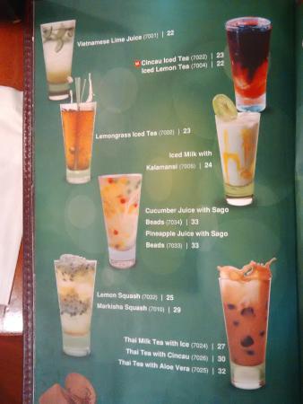 menu @ MonViet Kemang Village