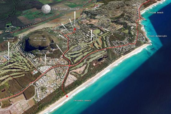 Coolum Beach, Australien: Location map