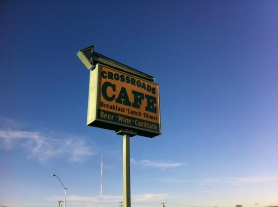 Crossroads Cafe: Road sign