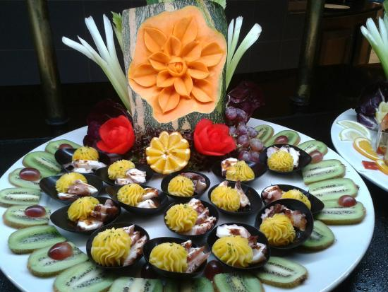 Princesa Yaiza Suite Hotel Resort: One of the delicacies on offer beautifully presented