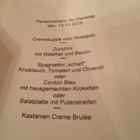 Hotel Kirnbacher Hof: diner 's avonds......super