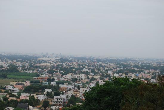 view of madurai city from taj garden retreat restaurant