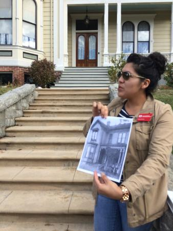 Los Angeles Conservancy Walking Tours: Julianna, our wonderful LA Conservancy docent in Angelino Heights