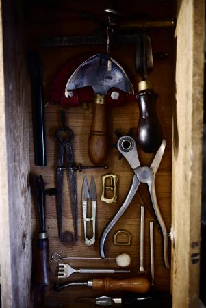 Dartington, UK: Old tools beauty