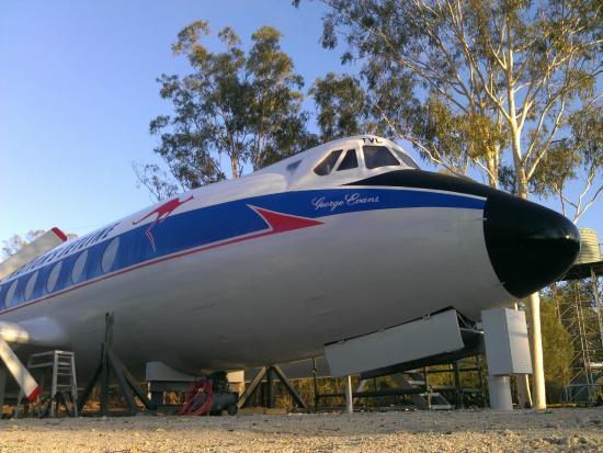 Possum Park: Historic plane being restored.