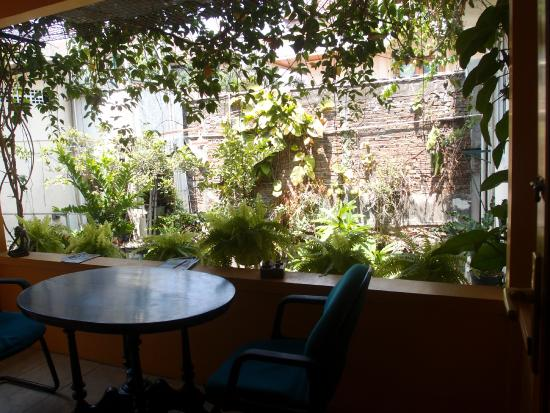 Homestay Heru : The balcony at the back of the house