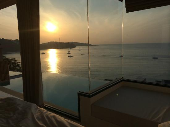 Cape Panwa, Thailand: Sunrise view from room