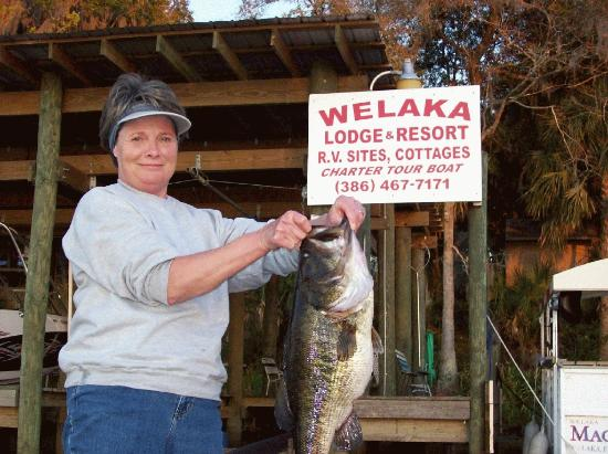 Welaka Lodge & Resort: Catch off the dock