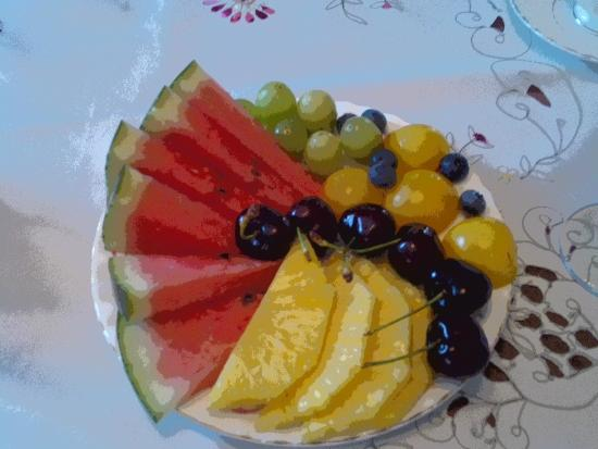 Tranquility Base Bed and Breakfast : Fruit plate for breakfast