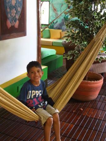 Posada Galapagos: zona recreativa del lobbin