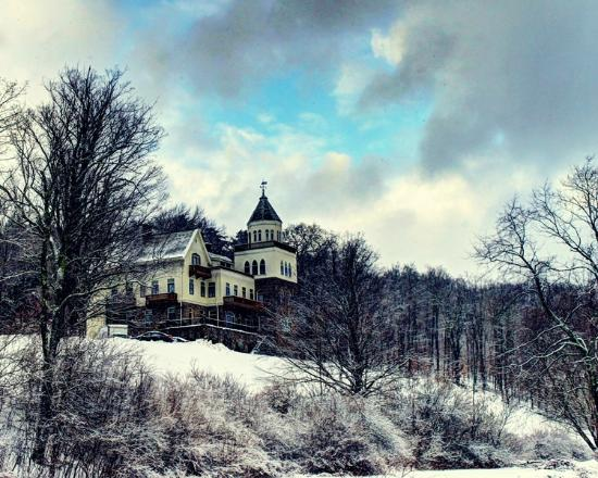 Claryville, estado de Nueva York: Castle in winter